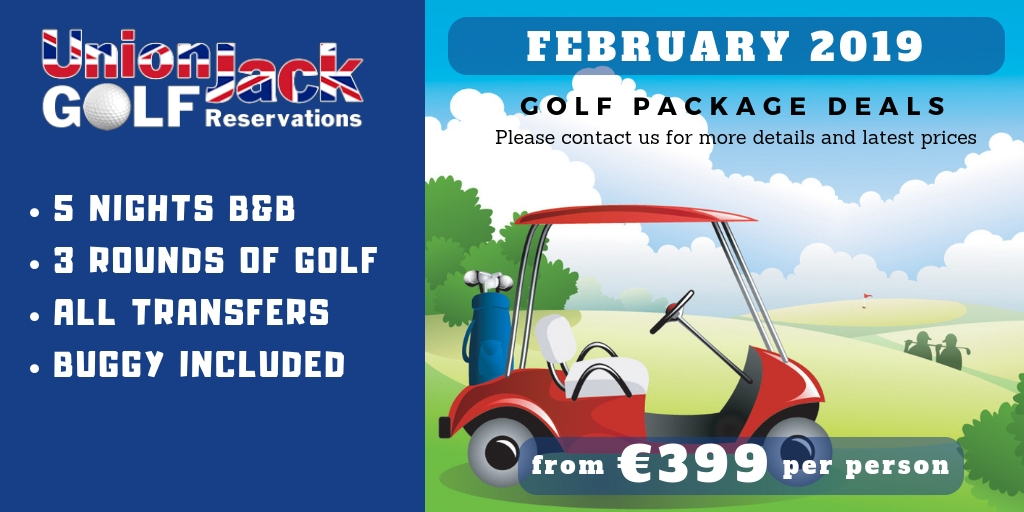 FEBRUARY 2019 - Union Jack Golf Reservations - Benidorm | 2019